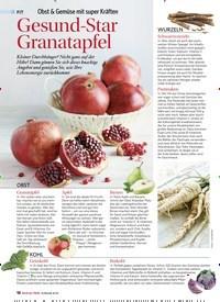 Titelbild der Ausgabe 1/2020 von Obst & Gemüse mit super Kräften: Gesund-Star Granatapfel. Zeitschriften als Abo oder epaper bei United Kiosk online kaufen.