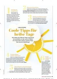 Titelbild der Ausgabe 3/2020 von 6 MAL HITZEFREI: Coole Tipps für heiße Tage. Zeitschriften als Abo oder epaper bei United Kiosk online kaufen.