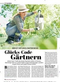 Titelbild der Ausgabe 3/2020 von HIER IST DER SPASS-FAKTOR RIESIG: Glücks-Code Gärtnern. Zeitschriften als Abo oder epaper bei United Kiosk online kaufen.