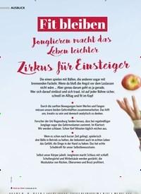Titelbild der Ausgabe 1/2021 von AUSBLICK: Jonglieren macht das Leben leichter Zirkus für Einsteiger. Zeitschriften als Abo oder epaper bei United Kiosk online kaufen.
