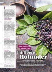 Titelbild der Ausgabe 5/2018 von Sauer, fruchtig und voller Power: Fit-Beere Holunder. Zeitschriften als Abo oder epaper bei United Kiosk online kaufen.