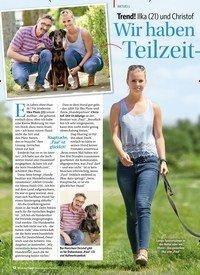 Titelbild der Ausgabe 1/2018 von Trend! Ilka (21) und Christof (53) machen Dog-Sharing:Wir haben einen Teilzeit- Hund. Zeitschriften als Abo oder epaper bei United Kiosk online kaufen.