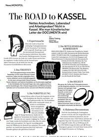 Titelbild der Ausgabe 9/2018 von MONOPOL: The ROAD to KASSEL. Zeitschriften als Abo oder epaper bei United Kiosk online kaufen.
