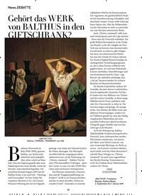 Titelbild der Ausgabe 9/2018 von DEBATTE: Gehört das WERK von BALTHUS in den GIFTSCHRANK?. Zeitschriften als Abo oder epaper bei United Kiosk online kaufen.