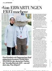 Titelbild der Ausgabe 12/2018 von INTERVIEW: »Von ERWARTUNGEN FREI machen«. Zeitschriften als Abo oder epaper bei United Kiosk online kaufen.