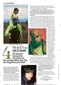 Titelbild der Ausgabe 1/2019 von INTERVIEW: 4 FRAGEN an HEJI SHIN. Zeitschriften als Abo oder epaper bei United Kiosk online kaufen.