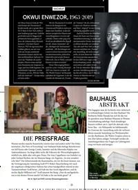 Titelbild der Ausgabe 4/2019 von NACHRUF: OKWUI ENWEZOR, 1963–2019. Zeitschriften als Abo oder epaper bei United Kiosk online kaufen.