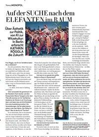 Titelbild der Ausgabe 5/2019 von Auf der SUCHE nach dem ELEFANTEN im RAUM. Zeitschriften als Abo oder epaper bei United Kiosk online kaufen.