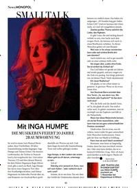 Titelbild der Ausgabe 11/2019 von Mit INGA HUMPE. Zeitschriften als Abo oder epaper bei United Kiosk online kaufen.