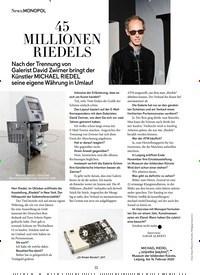 Titelbild der Ausgabe 12/2019 von MONOPOL: 45 MILLIONEN RIEDELS. Zeitschriften als Abo oder epaper bei United Kiosk online kaufen.
