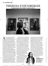 Titelbild der Ausgabe 1/2020 von THERESIA ENZENSBERGER ÜBER DIE ZEICHEN DER ZEIT. Zeitschriften als Abo oder epaper bei United Kiosk online kaufen.