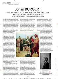 Titelbild der Ausgabe 3/2020 von Alte MEISTER: Jonas BURGERT. Zeitschriften als Abo oder epaper bei United Kiosk online kaufen.