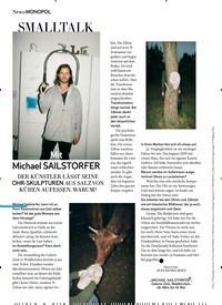 Titelbild der Ausgabe 4/2020 von MONOPOL: SMALLTALK: Mit: Michael SAILSTORFER. Zeitschriften als Abo oder epaper bei United Kiosk online kaufen.