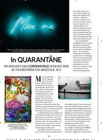 Titelbild der Ausgabe 4/2020 von In QUARANTÄNE. Zeitschriften als Abo oder epaper bei United Kiosk online kaufen.