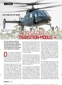 Titelbild der Ausgabe 2/2019 von S-97 UND FLY BY WIRE: » URSACHE: TRANSITION-MODUS «. Zeitschriften als Abo oder epaper bei United Kiosk online kaufen.