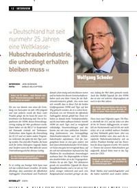 Titelbild der Ausgabe 2/2019 von » Deutschland hat seit nunmehr 25 Jahren eine Weltklasse- Hubschrauberindustrie, die unbedingt erhalten bleiben muss «. Zeitschriften als Abo oder epaper bei United Kiosk online kaufen.