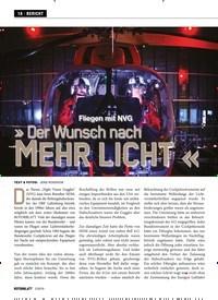 Titelbild der Ausgabe 2/2019 von Fliegen mit NVG » Der Wunsch nach MEHR LICHT «. Zeitschriften als Abo oder epaper bei United Kiosk online kaufen.