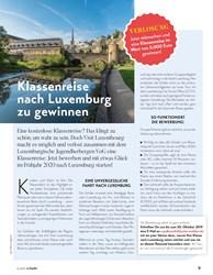Titelbild der Ausgabe 4/2019 von Klassenreise nach Luxemburg zu gewinnen. Zeitschriften als Abo oder epaper bei United Kiosk online kaufen.