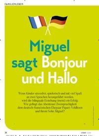 Titelbild der Ausgabe 5/2019 von Miguel sagt Bonjour und Hallo. Zeitschriften als Abo oder epaper bei United Kiosk online kaufen.