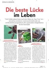 Titelbild der Ausgabe 6/2019 von Die beste Lücke im Leben. Zeitschriften als Abo oder epaper bei United Kiosk online kaufen.