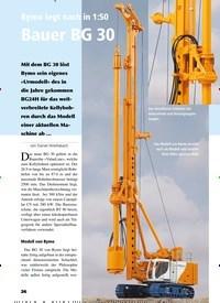 Titelbild der Ausgabe 5/2019 von Bymo legt nach in 1:50 Bauer BG 30. Zeitschriften als Abo oder epaper bei United Kiosk online kaufen.
