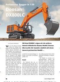 Titelbild der Ausgabe 6/2019 von Preiswerter Bagger in 1:50: Doosan DX800LC. Zeitschriften als Abo oder epaper bei United Kiosk online kaufen.
