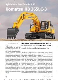 Titelbild der Ausgabe 6/2019 von Hybrid von First Gear in 1:50: Komatsu HB 365LC-3. Zeitschriften als Abo oder epaper bei United Kiosk online kaufen.
