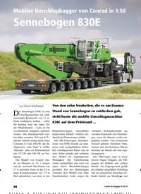 Titelbild der Ausgabe 6/2019 von Mobiler Umschlagbagger von Conrad in 1:50: Sennebogen 830E. Zeitschriften als Abo oder epaper bei United Kiosk online kaufen.