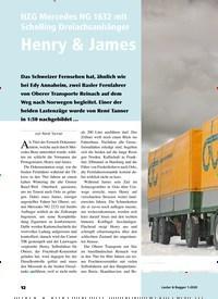 Titelbild der Ausgabe 1/2020 von NZG Mercedes NG 1632 mit Schelling Dreiachsanhänger Henry & James. Zeitschriften als Abo oder epaper bei United Kiosk online kaufen.