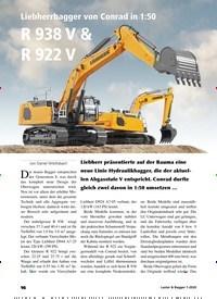 Titelbild der Ausgabe 1/2020 von Liebherrbagger von Conrad in 1:50 R 938 V & R 922 V. Zeitschriften als Abo oder epaper bei United Kiosk online kaufen.