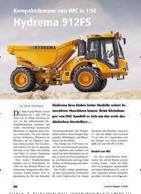 Titelbild der Ausgabe 1/2020 von Kompaktdumper von IMC in 1:50 Hydrema 912FS. Zeitschriften als Abo oder epaper bei United Kiosk online kaufen.