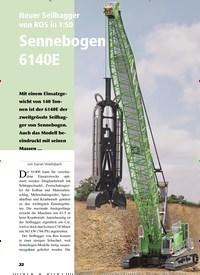 Titelbild der Ausgabe 1/2020 von Neuer Seilbagger von ROS in 1:50 Sennebogen 6140E. Zeitschriften als Abo oder epaper bei United Kiosk online kaufen.