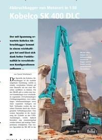 Titelbild der Ausgabe 2/2020 von Abbruchbagger von Motorart in 1:50 Kobelco SK 400 DLC. Zeitschriften als Abo oder epaper bei United Kiosk online kaufen.