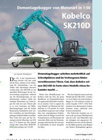 Titelbild der Ausgabe 6/2019 von Demontagebagger von Motorart in 1:50 Kobelco SK210D. Zeitschriften als Abo oder epaper bei United Kiosk online kaufen.