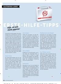 Titelbild der Ausgabe 6/2018 von GLUTENFREI LEBEN: ERSTE-HILFE-TIPPS. Zeitschriften als Abo oder epaper bei United Kiosk online kaufen.