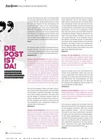 Titelbild der Ausgabe 10/2019 von Leserforum MAILS & BRIEFE AN DIE REDAKTION: Die Post ist da!. Zeitschriften als Abo oder epaper bei United Kiosk online kaufen.
