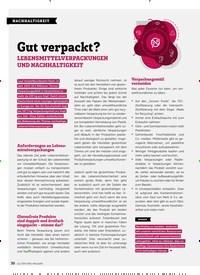 Titelbild der Ausgabe 10/2019 von NACHHALTIGKEIT: Gut verpackt?. Zeitschriften als Abo oder epaper bei United Kiosk online kaufen.