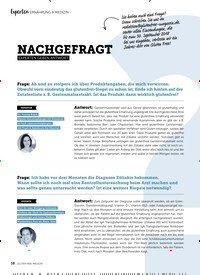 Titelbild der Ausgabe 5/2018 von Experten: ERNÄHRUNG & MEDIZIN: NACHGEFRAGT: EXPERTEN GEBEN ANTWORT. Zeitschriften als Abo oder epaper bei United Kiosk online kaufen.