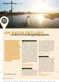 Titelbild der Ausgabe 7/2019 von RHEINLAND: AM RHEIN ENTLANG: von Bonn bis Düss eldorf glutenfr ei genießen. Zeitschriften als Abo oder epaper bei United Kiosk online kaufen.