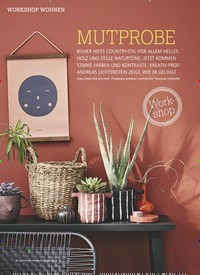 Titelbild der Ausgabe 9/2019 von WORKSHOP WOHNENL: MUTPROBE. Zeitschriften als Abo oder epaper bei United Kiosk online kaufen.