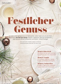 Titelbild der Ausgabe 12/2019 von Festlicher Genuss. Zeitschriften als Abo oder epaper bei United Kiosk online kaufen.