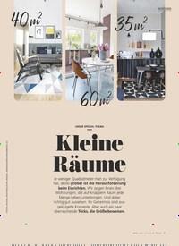 Titelbild der Ausgabe 3/2020 von UNSER SPEZIAL-THEMA: Kleine Räume. Zeitschriften als Abo oder epaper bei United Kiosk online kaufen.
