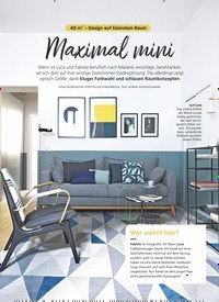 Titelbild der Ausgabe 3/2020 von 40 m² - Design auf kleinstem Raum: Maximal mini. Zeitschriften als Abo oder epaper bei United Kiosk online kaufen.