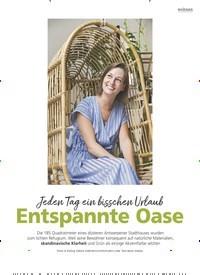Titelbild der Ausgabe 6/2020 von Wohnen: Jeden Tag ein bisschen Urlaub: Entspannte Oase. Zeitschriften als Abo oder epaper bei United Kiosk online kaufen.