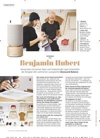 Titelbild der Ausgabe 8/2020 von inspiration: Benjamin Hubert. Zeitschriften als Abo oder epaper bei United Kiosk online kaufen.