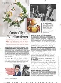 Titelbild der Ausgabe 12/2020 von inspiration: INTERVIEW: Oma Ollys Punktlandung. Zeitschriften als Abo oder epaper bei United Kiosk online kaufen.