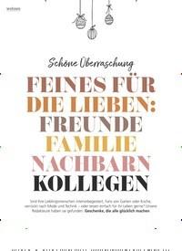 Titelbild der Ausgabe 12/2020 von Schöne Überraschung: FEINES FÜR DIE LIEBEN: FREUNDE FAMILIE NACHBARN KOLLEGEN. Zeitschriften als Abo oder epaper bei United Kiosk online kaufen.