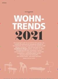 Titelbild der Ausgabe 1/2021 von RICHTUNGSWEISEND: WOHN-TRENDS 2021. Zeitschriften als Abo oder epaper bei United Kiosk online kaufen.