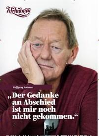 """Titelbild der Ausgabe 1/2020 von Wolfgang Ambros: """" Der Gedanke an Abschied ist mir noch nicht gekommen."""". Zeitschriften als Abo oder epaper bei United Kiosk online kaufen."""