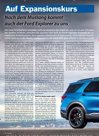 Titelbild der Ausgabe 2/2019 von Auf Expansionskurs: Nach dem Mustang kommt auch der Ford Explorer zu uns. Zeitschriften als Abo oder epaper bei United Kiosk online kaufen.